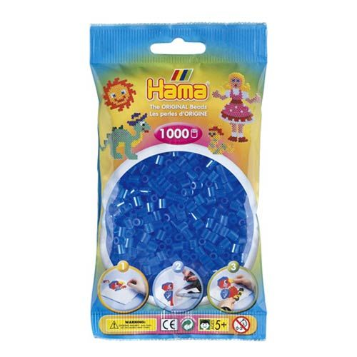 Bolsa de Hama midi azul translucido de 1000 piezas Nº 207-15