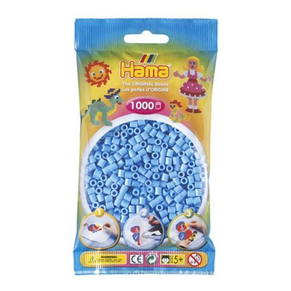 Bolsa de Hama midi azul pastel de 1000 piezas Nº 207-46