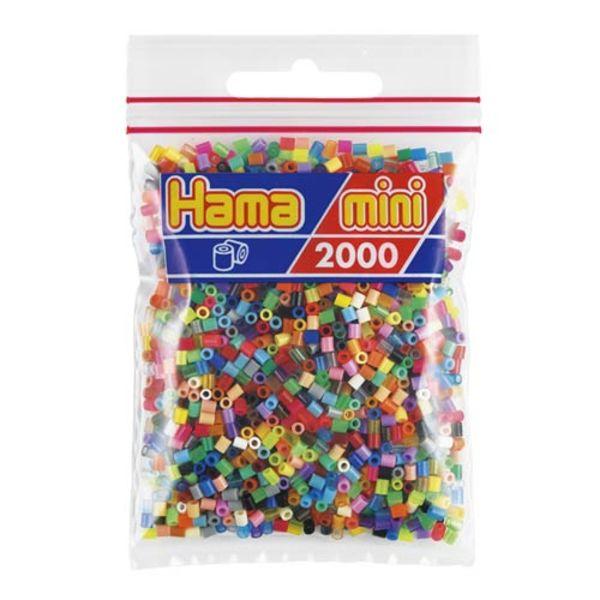 Bolsa de Hama Mini mezcla de 48 colores 2000 piezas Nº 501-00