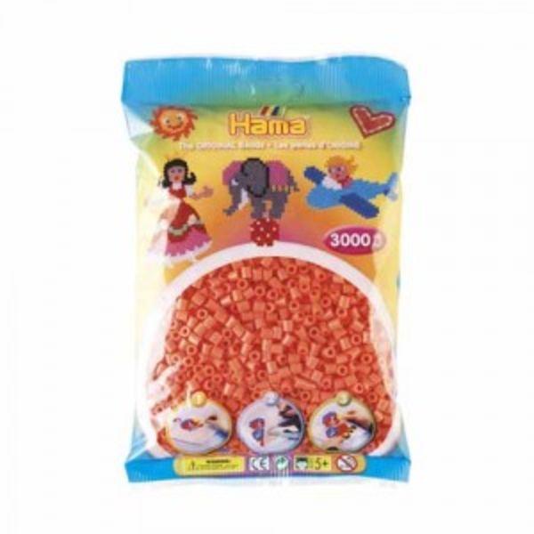 Bolsa de Hama midi rojo pastel / salmón de 3000 piezas