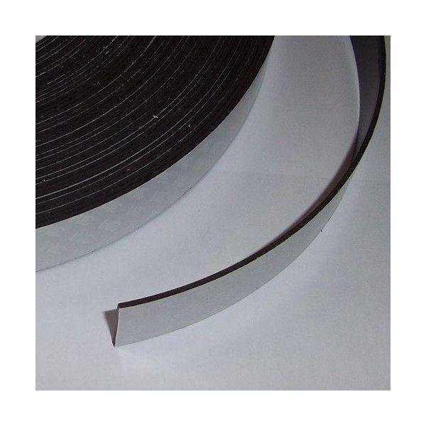 Adhesive magnetic sheet 25mm x 1,6mm - 10 CM