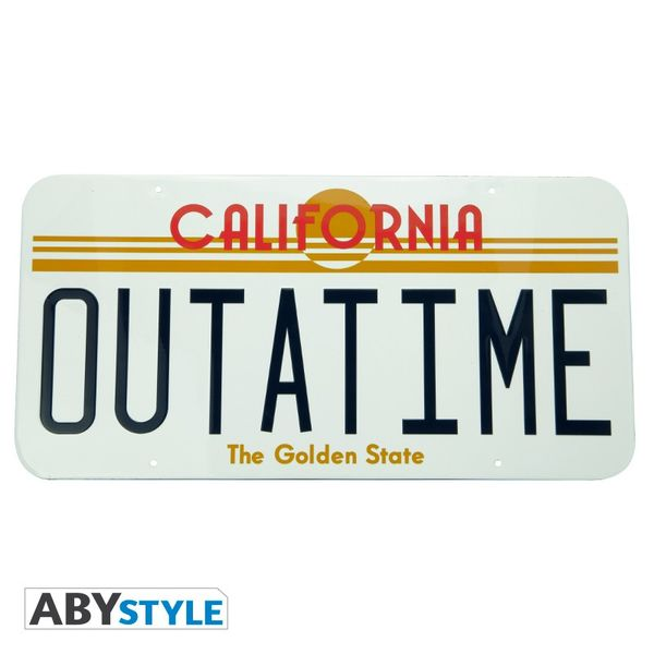 Car Metal Plate Outatime Back To The Future