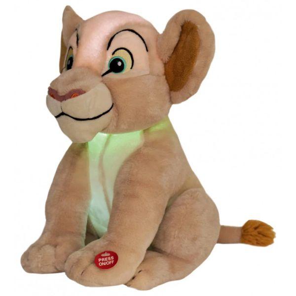 Peluche Nala El Rey Leon con luz y sonido Disney  30cm