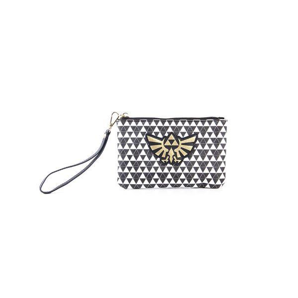 Hyrule Logo Black & White Coin Purse Bag The Legend Of Zelda
