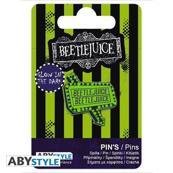 Pin Cartel Luminoso Beetlejuice
