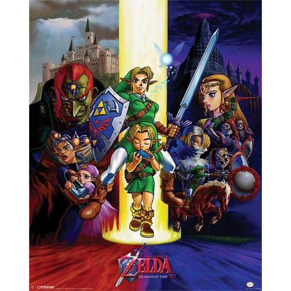 The Legend of Zelda Poster Ocarine of Time 40 x 50 cms