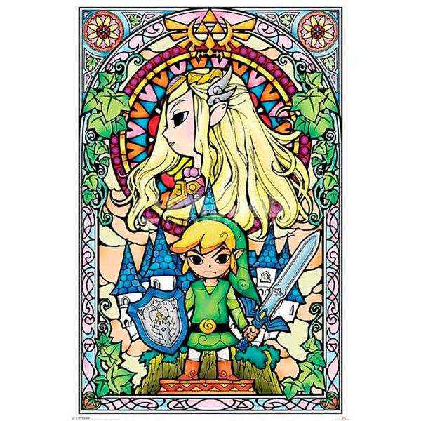Poster The Legend of Zelda Stained Glass Look 91 x 61 cms
