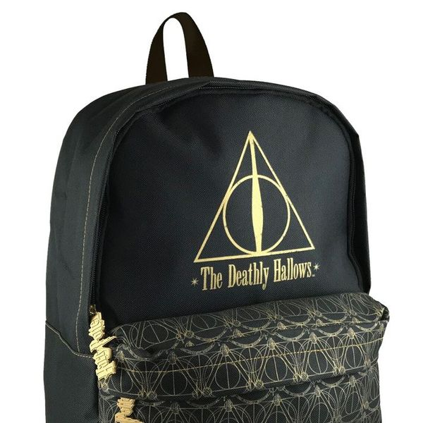 Mochila Deathly Hallows Harry Potter Black and Gold