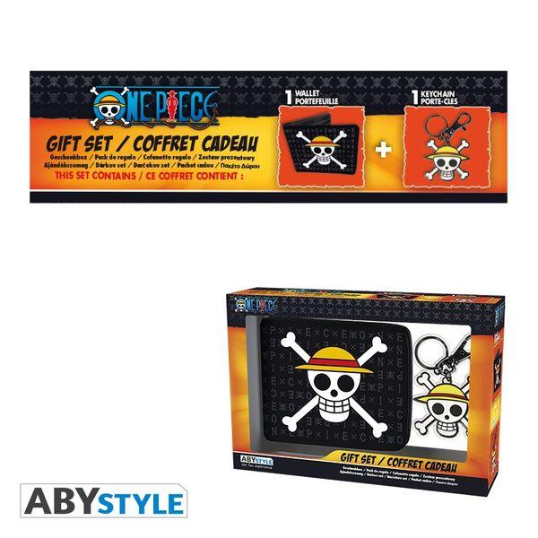 Pack Cartera y Llavero Skull Luffy One Piece