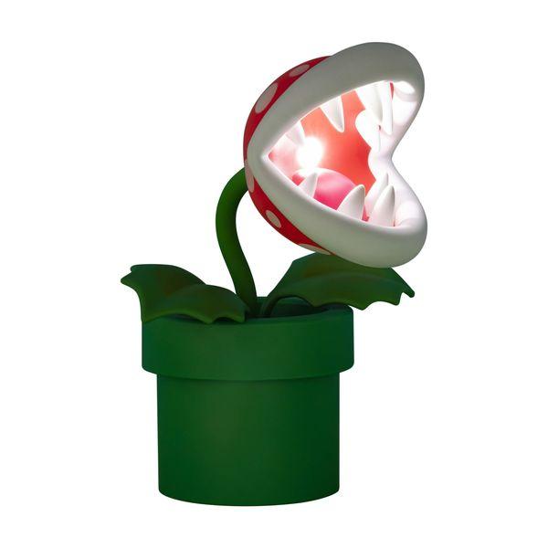 Lámpara 3D Planta Piraña Super Mario Nintendo
