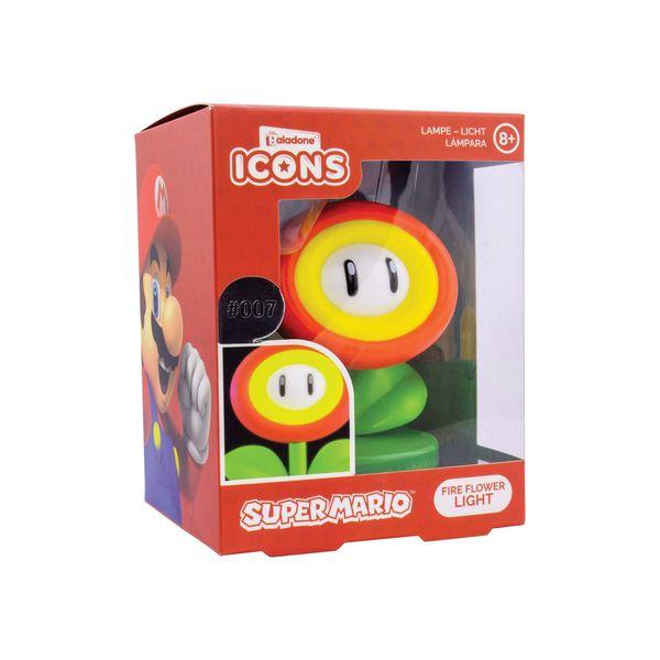 Lampara 3D Flor de Fuego Icon Light Super Mario Nintendo