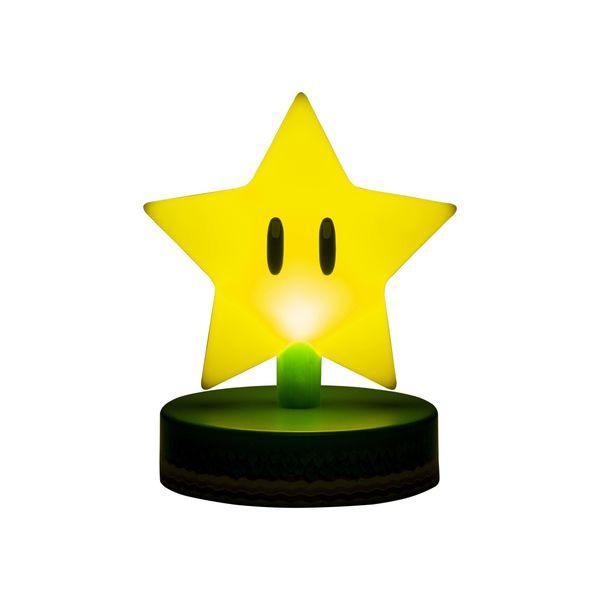 Lampara 3D Super Estrella Icon Light Super Mario Nintento