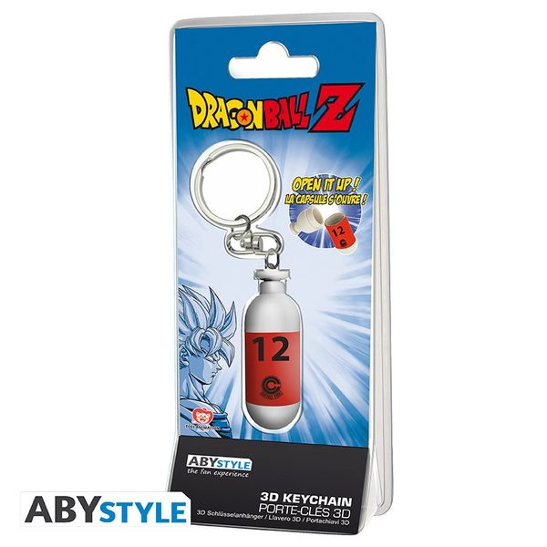 Red Hoi-Poi Capsule Keychain Dragon Ball