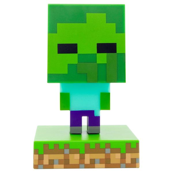 Lampara 3D Zombie Minecraft
