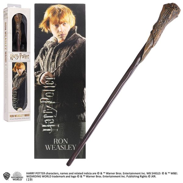 Varita Mágica y Punto de Libro 3D Ron Weasley Harry Potter