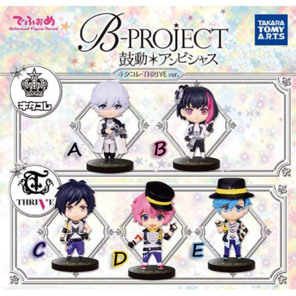 Gashapon B-Project - Ambitious Kitakore and THRIVE ver