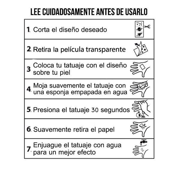 Lámina de Tatuajes Death Note