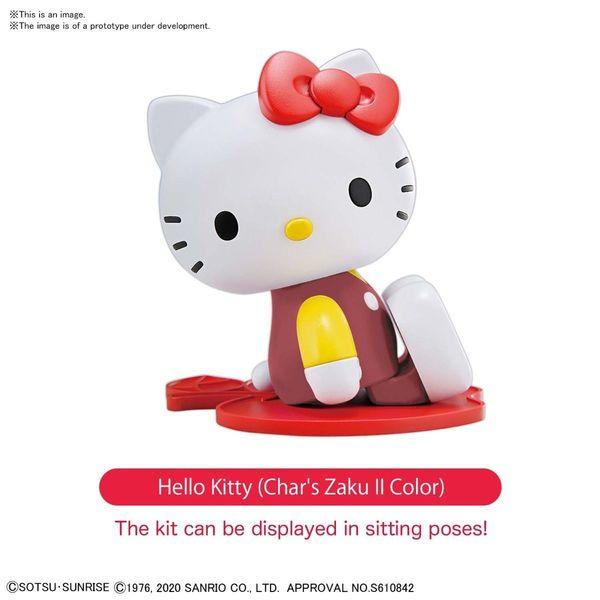 Model Kit Hello Kitty / Zaku II Pink SD Cross Silhouette Gundam