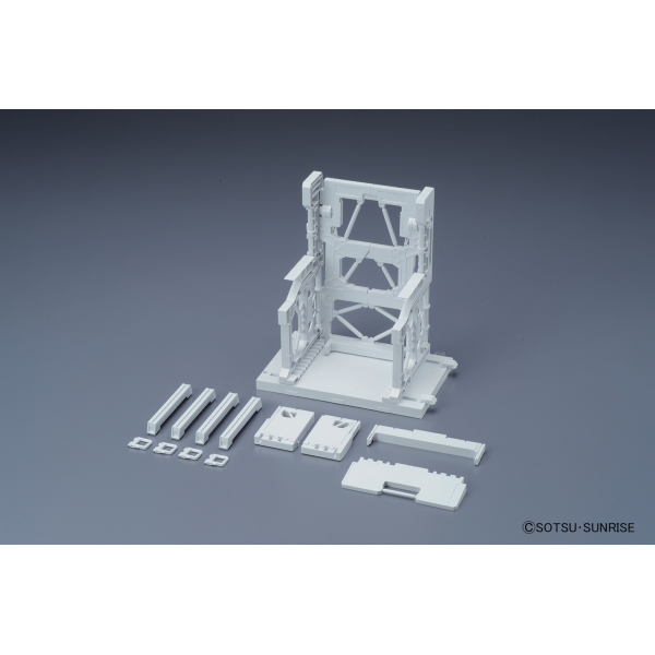 Model Kit System Base 001 Blanco Builder Parts