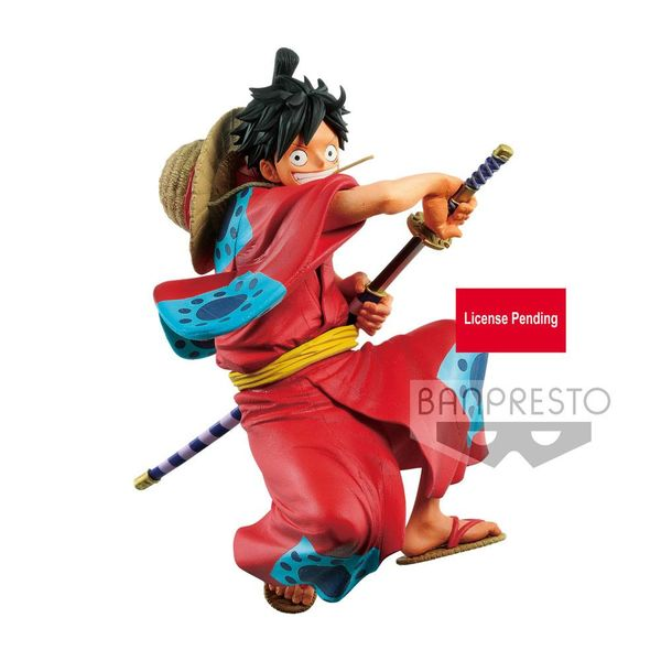Figura Monkey D Luffy Wanokuni One Piece King of Artist