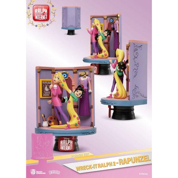 Figura Rapunzel & Vanellope Ralph Rompe Internet D-Stage
