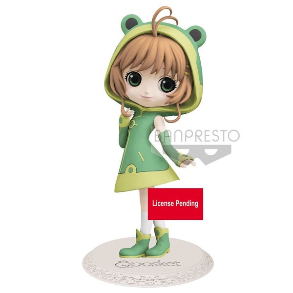 Figura Sakura Kinomoto Frog Card Captor Sakura Clear Card Q Posket
