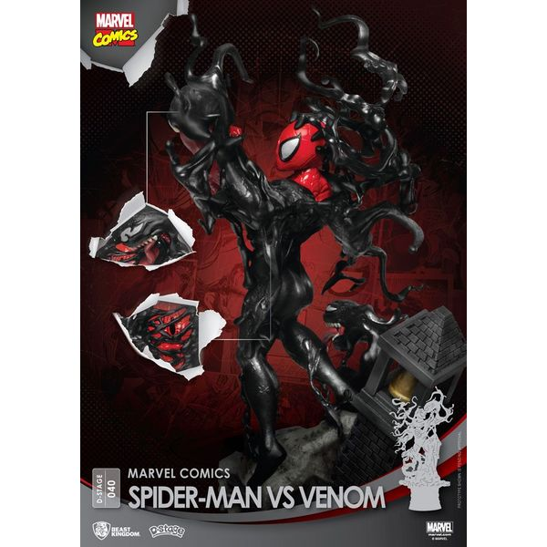 Figura Spider Man vs Venom Marvel Comics D-Stage