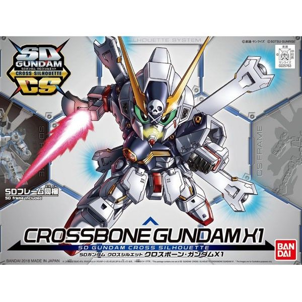 Model Kit Crossbone Gundam X1 Cross Silhouette SD Gundam