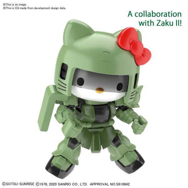 Model Kit Hello Kitty / Zaku II SD Cross Silhouette Gundam