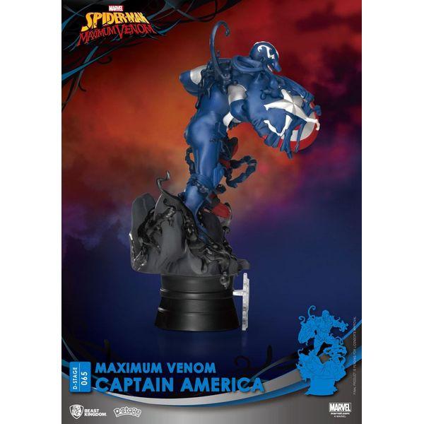 Figura Capitán América Marvel Comics Maximum Venom D-Stage