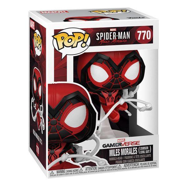 Funko Miles Morales Crimson Cowl Suit Spider-Man Marvel Comics POP! 770