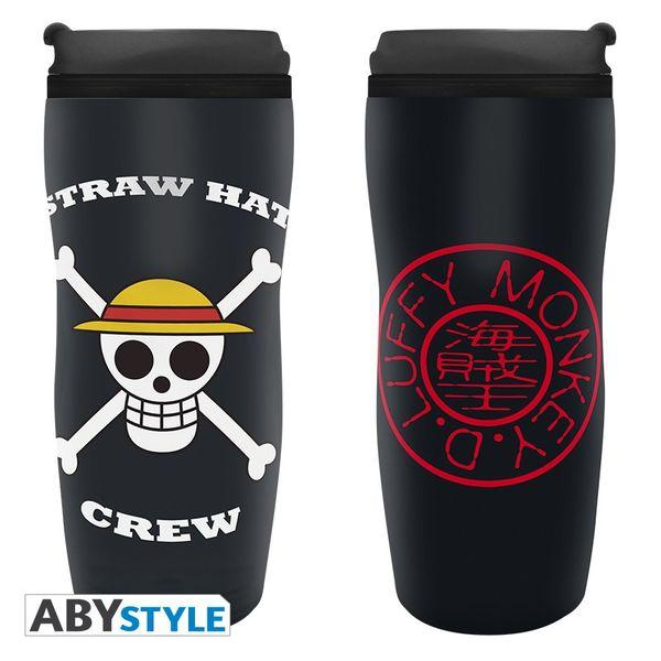 Vaso de Viaje Skull Luffy One Piece