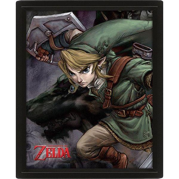 Legend of Zelda Twilight Princess Framed 3D Lenticular Poster