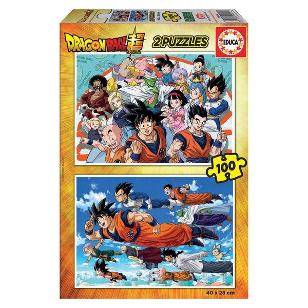 Puzzle 2 x 100 piezas Dragon Ball Super