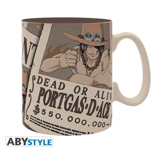 Taza Portgas D. Ace Wanted One Piece