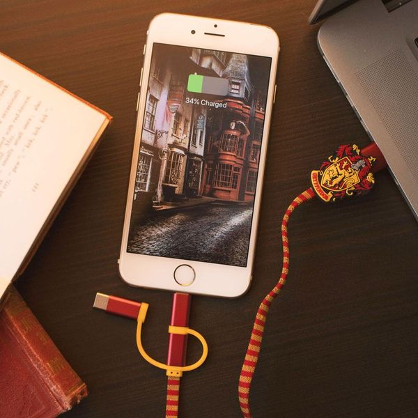 Gryffindor Scarf Charging Cable Harry Potter 3in1