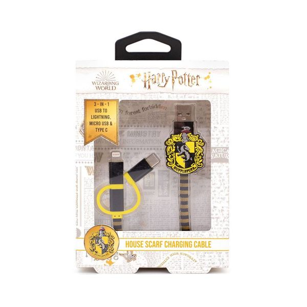 Hufflepuff Scarf Charging Cable Harry Potter 3in1