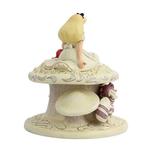 Figura Alicia y Conejo Blanco Alicia en el Pais de las Maravillas Jim Shore Disney Traditions