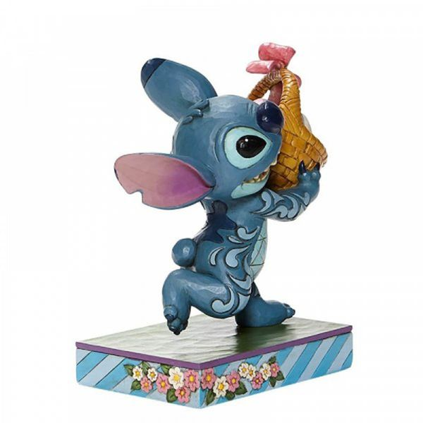 Stitch with Easter Basket Figure Lilo & Stitch Disney Traditions