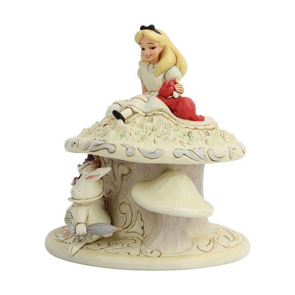 Figura Alicia en el Pais de las Maravillas y el Conejo Blanco Disney Traditions