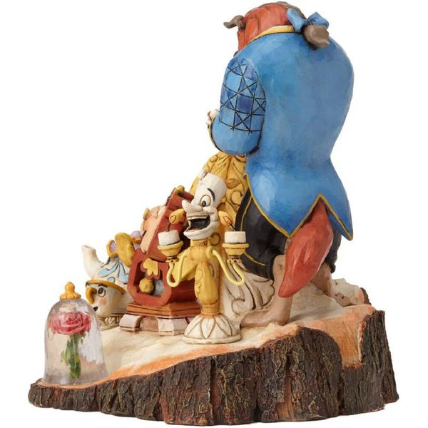 Figura La Bella Y La Bestia Tronco Jim Shore Disney Traditions