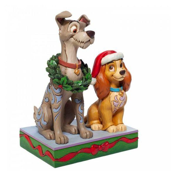 Figura Reina y Golfo Navidad La Dama y el Vagabundo Jim Shore Disney Traditions