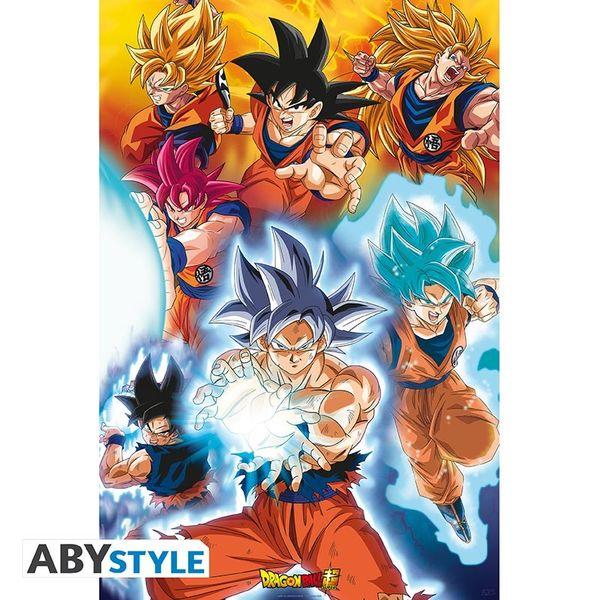 Poster Transformations of Goku Dragon Ball Super 91.5 x 61 cms