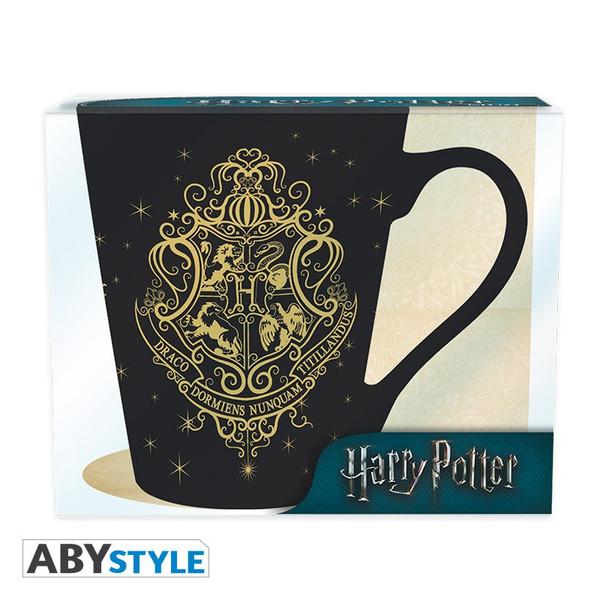 Taza Fénix y escudo Hogwarts Harry Potter