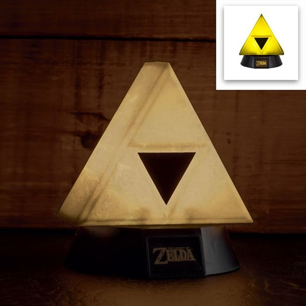 Gold Triforce 3D Lamp The Legend Of Zelda