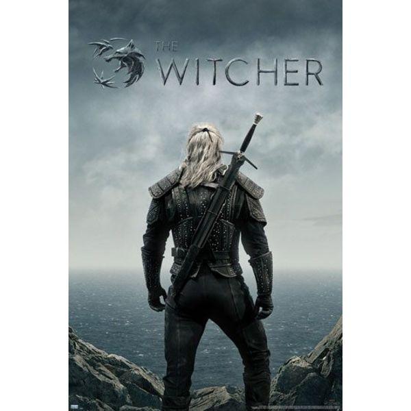 Poster Geralt espalda The Witcher  91 x 61 cms