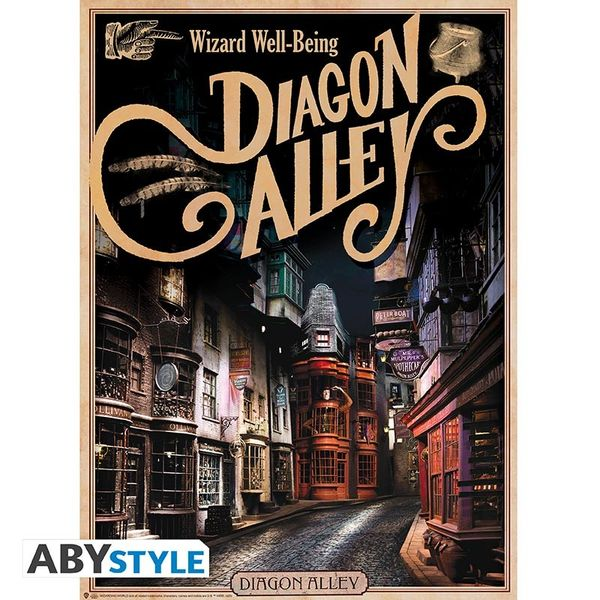Diagon Alley and Hogwarts Castle Poster set Harry Potter 52 x 38 cms