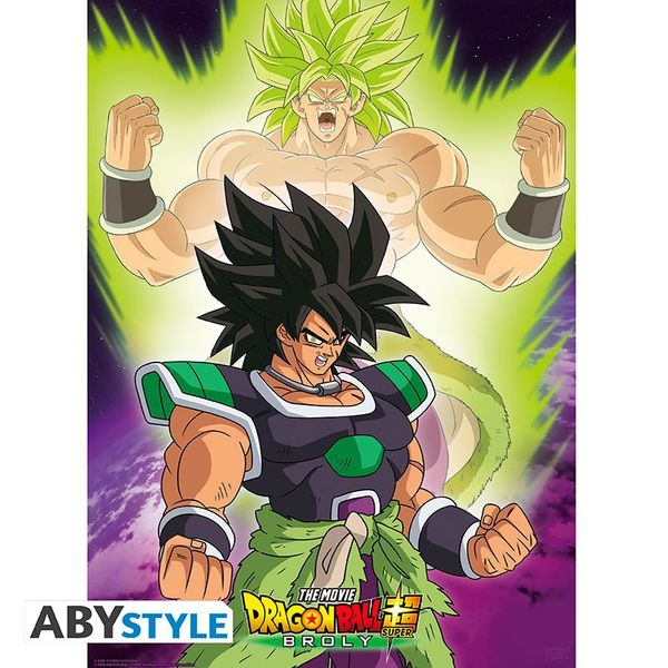 Poster Broly Dragon Ball Super Set 52 x 38 cms