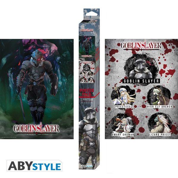 Poster Goblin Slayer Orcbolg y Grupo Set 52 x 38 cms