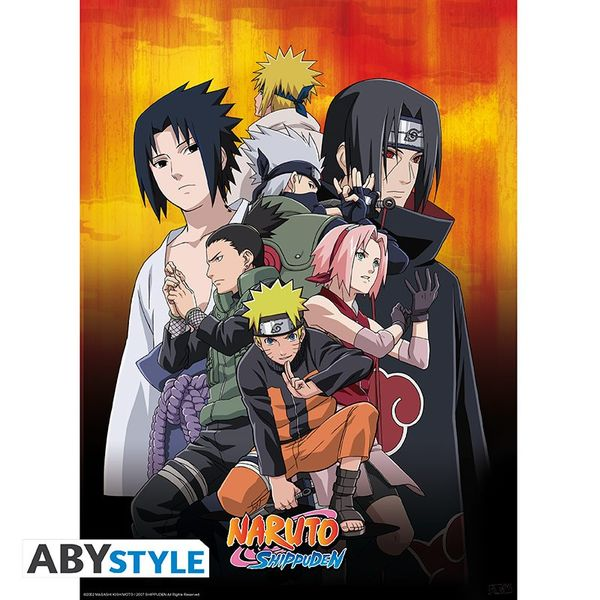 Poster Naruto Shippuden Ninjas Set 52 x 38 cms